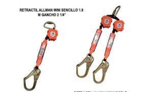RETRACTIL ALLMAN MINI SENCILLO O DOBLE 1.8 M